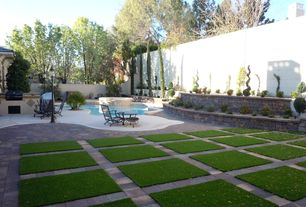 Modern Landscape/Yard with exterior concrete tile floors, exterior tile floors
