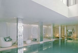Modern Swimming Pool with Etched metal columns, Other Pool Type