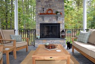 Craftsman Patio with exterior stone floors