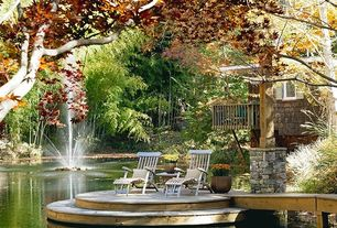 Traditional Landscape/Yard with Pond, Pathway, Fountain