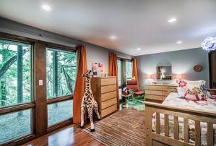 Contemporary Kids Bedroom with Urbangreen Urban Basics 5 Drawer Chest, Hardwood floors