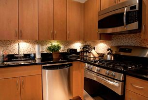 Modern Kitchen with Undermount sink, Soapstone counters, L-shaped, Soapstone, European Cabinets, Flush