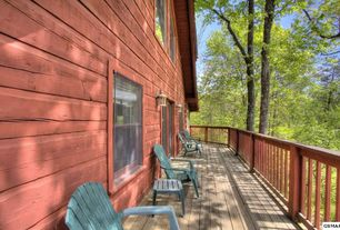 Rustic Deck with Wrap around porch