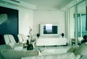 Modern Living Room with simple marble floors