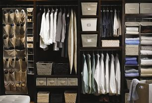 Traditional Closet with The Container Store White Montauk Rectangular Bins, Built-in bookshelf