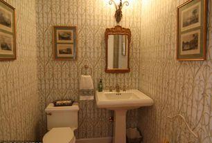 Traditional Powder Room with Hardwood floors, Powder room, Pedestal sink, Kohler - memoirs pedestal bathroom sink