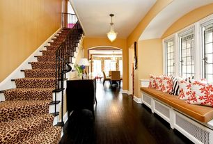 Eclectic Staircase with Hardwood floors, High ceiling