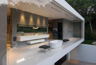 Contemporary Master Bathroom with Freestanding, Master bathroom, Rain shower, Imler acrylic freestanding tub, Undermount sink