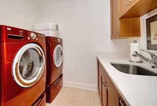 Modern Laundry Room with Undermount sink
