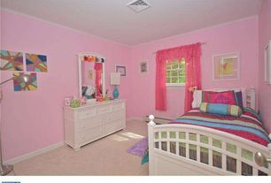 Traditional Kids Bedroom with Standard height, Carpet, double-hung window, Crown molding, Paint 1, no bedroom feature