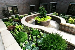 Traditional Landscape/Yard with Raised beds, exterior tile floors, Pathway