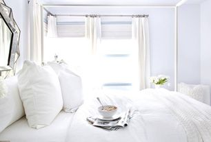 Contemporary Guest Bedroom with Coyuchi Sateen Duvet Collection, Pottery Barn Catham Canopy Bed
