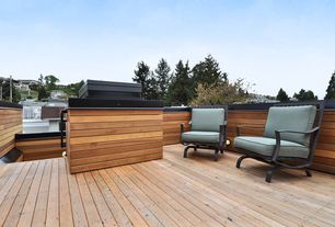 Contemporary Deck with Deck Railing