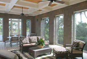 Traditional Porch with French doors