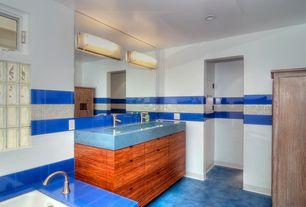 Contemporary Master Bathroom with Flush, Undermount sink, Wall sconce, slate floors, Master bathroom, European Cabinets