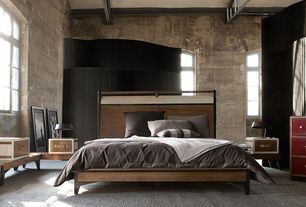 Contemporary Master Bedroom with Roche Bobois Correspondance  Bench, Arched window, Roche Bobois Correspondance Bed