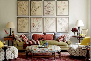 Eclectic Living Room with J Hunt Home Simplify End Table I, Carpet, E By Design Solid Decorative Throw Pillow