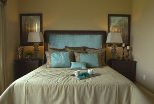 Traditional Master Bedroom with Carpet, TMS Eirene Queen Upholstered Headboard