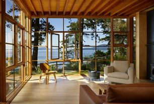 Traditional Porch with Herman miller eames plywood lounge chair, Screened porch, outdoor pizza oven, Casement