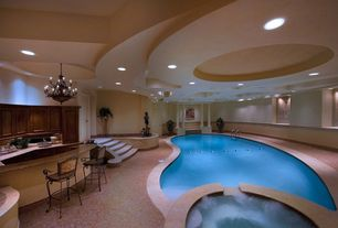 Contemporary Swimming Pool with Indoor pool, Pathway, Pool with hot tub