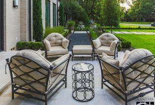 Traditional Patio with exterior tile floors, Pathway