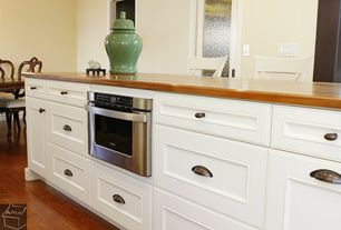 Country Kitchen with Viking Undercounter DrawerMicro Oven, Cherry butcher block counter