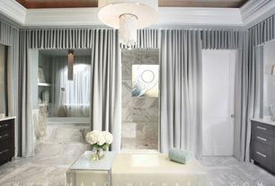 Contemporary Master Bathroom with specialty door, no showerdoor, Bathtub, Rain shower, Flush, flush light, Standard height
