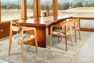 Contemporary Dining Room with East end imports wegner dining chair - elbow chair, Natural light, Concrete floors
