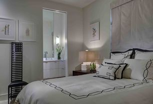 Modern Master Bedroom with Carpet, Black Stripe Barrato Stitch Full/ Queen-size 3-piece Duvet Cover Set