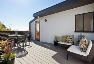 Contemporary Deck with French doors