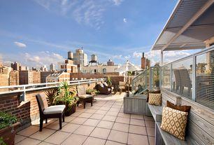 Contemporary Patio with exterior tile floors, Fence, exterior concrete tile floors, Deck Railing