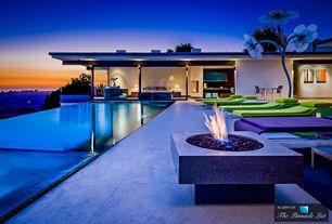 Modern Swimming Pool with Lebello Sunny Horizon Coffee T (Purple 515), Urban city view, Window wall, exterior stone floors