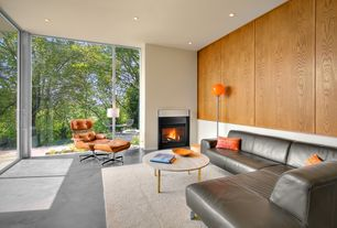 """Contemporary Living Room with James 72"""" Sectional, Zipcode Design Ava Area Rug, Concrete floors"""