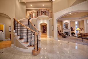 Traditional Staircase with Concrete floors, Wall sconce
