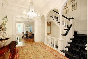 Traditional Staircase with curved staircase, Laminate floors, High ceiling, Columns