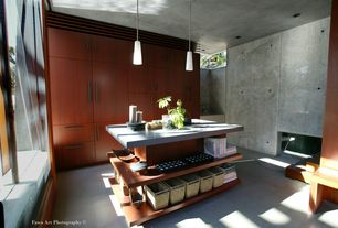 Asian Entryway with One-wall, Slate counters, Arizona Tile, Ecilipse SEeries,  Ceramic & Porcelain, Concrete counterop, Flush