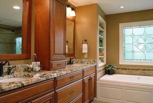 Traditional Master Bathroom with Arizona tile, BALI MALI LISTELLE,  Decos & Listelles, Raised panel, Complex Granite