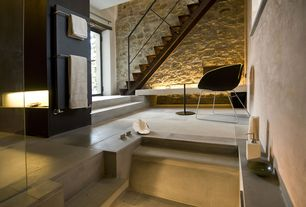 Contemporary Master Bathroom with High ceiling, Master bathroom
