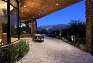 Rustic Porch with Pathway, exterior stone floors, Fence, Wrap around porch