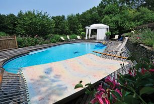 Traditional Swimming Pool with Fence, Raised beds, Gazebo
