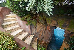Rustic Entryway with sandstone floors