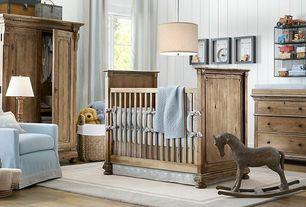 Traditional Kids Bedroom with double-hung window, Restoration hardware jameson dresser, no bedroom feature, Hardwood floors