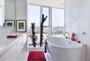Modern Master Bathroom with Undermount sink, Master bathroom, Corian counters, Flush, European Cabinets, Freestanding