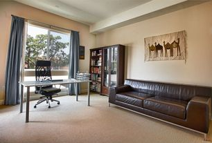 Modern Home Office with Carpet