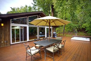 Traditional Deck with Outdoor kitchen, Transom window