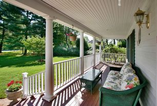 Country Porch with specialty window, Wrap around porch, Deck Railing