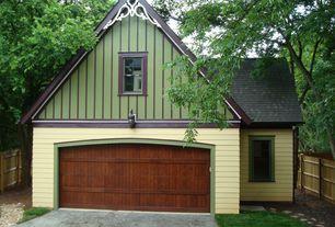 Traditional Garage with bedroom reading light, Barn door, Standard height, Concrete tile