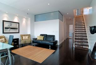 Modern Living Room with Laminate floors