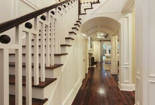 Traditional Hallway with Paint 2, Paint 1, Paint 3, Unfinished Oak Handrail