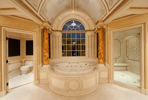 Traditional Master Bathroom with Hydro Systems Designer Redondo Air Tub with Thermal System, Crown molding, Columns